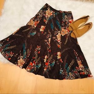 Coldwater Creek Long floral skirt
